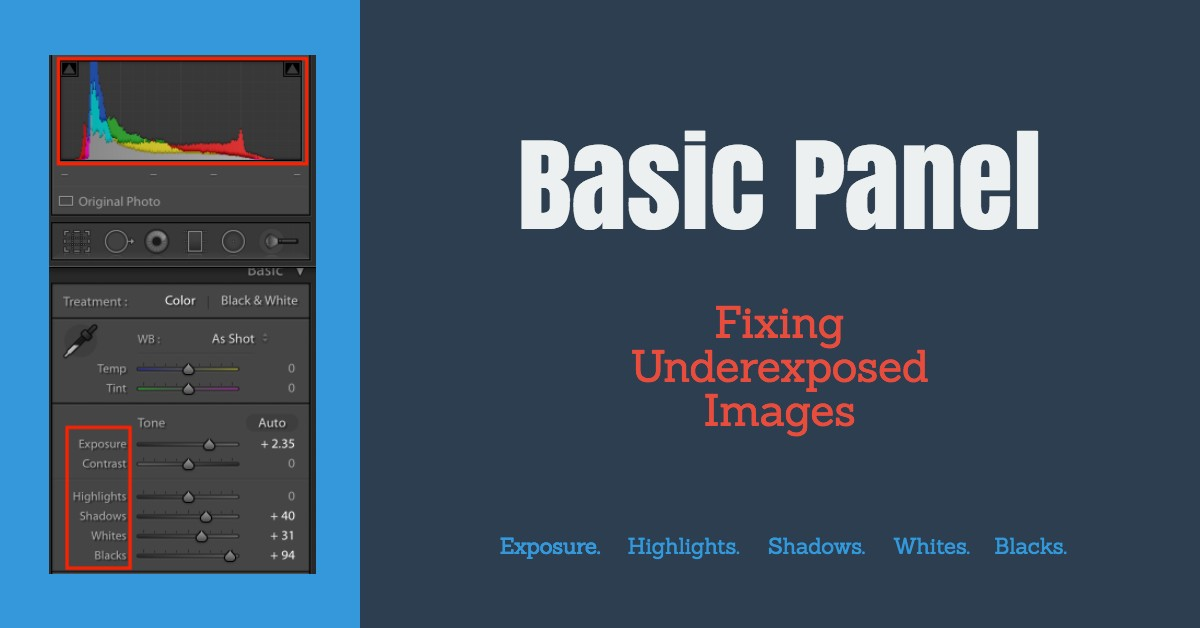 Basic Panel For Underexposed Photos